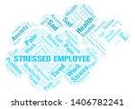 stressed employee word cloud.... | Shutterstock .eps vector #1406782241