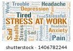 stress at work word cloud.... | Shutterstock .eps vector #1406782244
