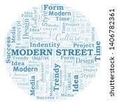 modern street word cloud.... | Shutterstock .eps vector #1406782361