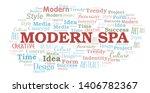 modern spa word cloud.... | Shutterstock .eps vector #1406782367
