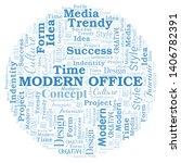 modern office word cloud.... | Shutterstock .eps vector #1406782391