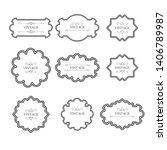 design vintage frame set.  ... | Shutterstock .eps vector #1406789987