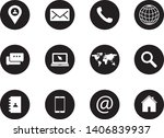 set of white icons isolated... | Shutterstock .eps vector #1406839937