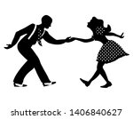 swing dance negative couple... | Shutterstock .eps vector #1406840627