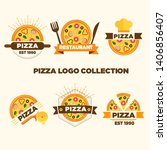 set of pizza labels and badges. ... | Shutterstock .eps vector #1406856407