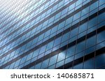 Facade of contemporary architecture - background - stock photo