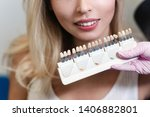 white teeth and beautiful smile ... | Shutterstock . vector #1406882801