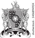 coat of arms crest heraldry... | Shutterstock .eps vector #1406894924