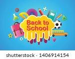back to school sale banner ... | Shutterstock .eps vector #1406914154