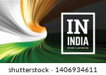 india flag in the form of a... | Shutterstock .eps vector #1406934611