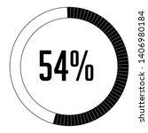 circle percentage diagrams 54 ...