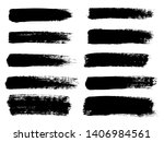painted grunge stripes set.... | Shutterstock . vector #1406984561
