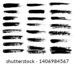 painted grunge stripes set.... | Shutterstock . vector #1406984567
