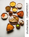 group of indian sweet   mithai... | Shutterstock . vector #1406995517