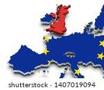 united kingdom brexit europe...   Shutterstock . vector #1407019094