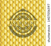 assortment gold badge. scales... | Shutterstock .eps vector #1407056597