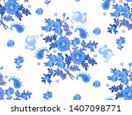 seamless amazing patterns of... | Shutterstock .eps vector #1407098771