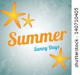 summer design over vintage... | Shutterstock .eps vector #140710405