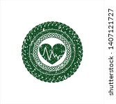 green heart with... | Shutterstock .eps vector #1407121727