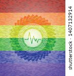 electrocardiogram icon on... | Shutterstock .eps vector #1407132914