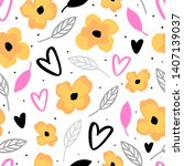 floral seamless pattern for... | Shutterstock .eps vector #1407139037