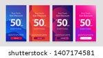 dynamic modern fluid mobile for ... | Shutterstock .eps vector #1407174581