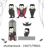 vampire character cartoon... | Shutterstock .eps vector #1407179831