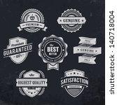 vintage premium quality labels... | Shutterstock .eps vector #140718004