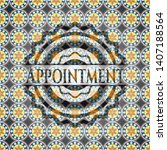 appointment arabic style badge. ... | Shutterstock .eps vector #1407188564