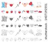 romantic relationship cartoon... | Shutterstock . vector #1407192551