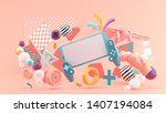 smart phones and devices ... | Shutterstock . vector #1407194084