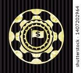 flag with money symbol inside...   Shutterstock .eps vector #1407202964
