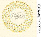 elegant save the date... | Shutterstock .eps vector #140721211