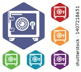 safe icons vector colorful...