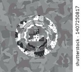 buildings icon on grey camo... | Shutterstock .eps vector #1407250817