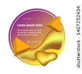 dynamic template liquid shapes. ... | Shutterstock .eps vector #1407252434