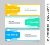 set of three abstract vector... | Shutterstock .eps vector #1407260444