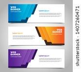 set of three abstract vector... | Shutterstock .eps vector #1407260471