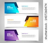 set of three abstract vector... | Shutterstock .eps vector #1407260474
