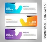 set of three abstract vector... | Shutterstock .eps vector #1407260477