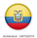 ecuador flag round bright icon...   Shutterstock .eps vector #1407265274