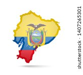 ecuador flag and outline of the ...   Shutterstock .eps vector #1407265301