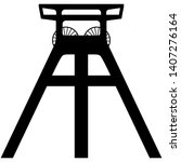 vector silhouette of a coal... | Shutterstock .eps vector #1407276164