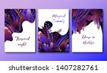 set of posters template with... | Shutterstock .eps vector #1407282761