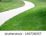 Curve Path On Lawn