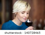 closeup portrait of young blond ... | Shutterstock . vector #140728465