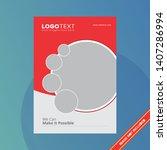 corporate modern brochure... | Shutterstock .eps vector #1407286994