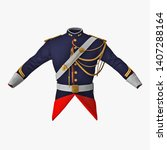 French Cuirassier Officers Uniform Isolated 3D Illustration