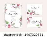 botanical wedding invitation... | Shutterstock .eps vector #1407320981