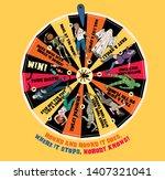 wheel of fortune with halloween ...   Shutterstock .eps vector #1407321041